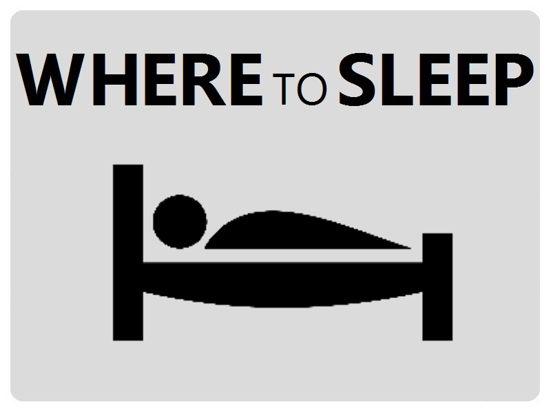 Where to sleep